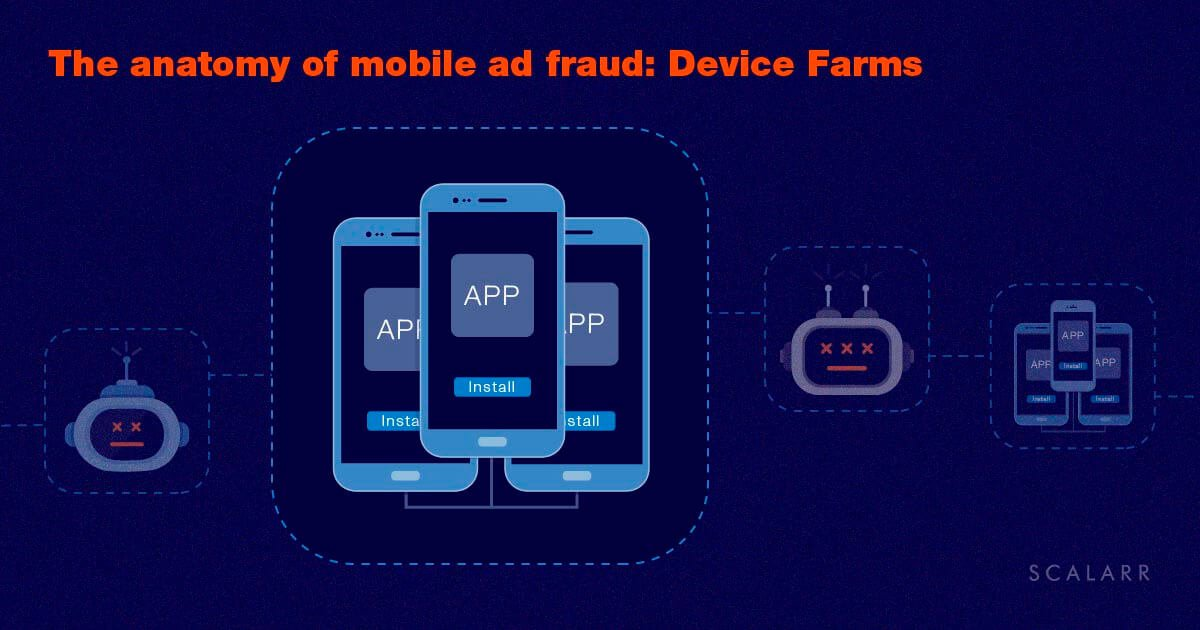 The anatomy of mobile ad fraud: Device Farms