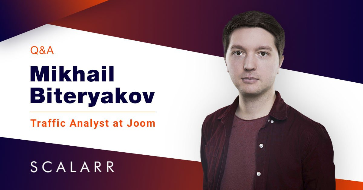 Mikhail Biteryakov, Traffic Analyst at Joom